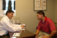 Dr. Prince with orthopedic patient.